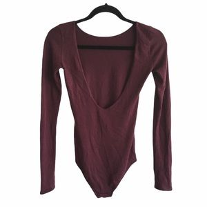 ARITZIA Wilfred Free Low Back Long Sleeve Bodysuit